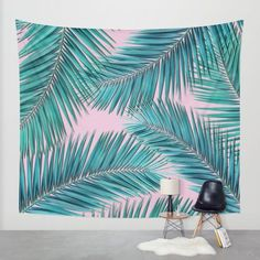 palm tree Wall Tapestry by Mark Ashkenazi | Society6