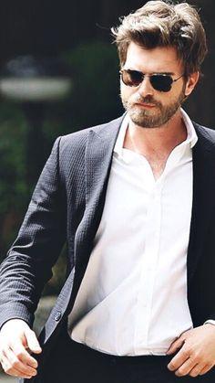 Kivanc Tatlitug Cesur ve Guzel Cesur Suit Dressed up Love Story Revenge Love Conquers all Shades White Collar Shirt Handsome Charming  Dashing Striking
