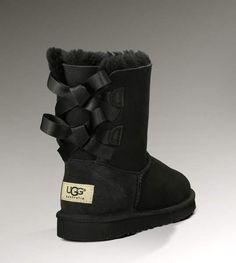 Ugg Bailey Bow 1002954 Black Boots Cheap Ugg Boots Outlet. Some less than $100 OMG! Holy cow, I am gonna love this site!