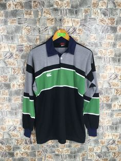 Excited to share this item from my shop: Canterbury Of New Zealand Rugby Polo Shirt Mens Medium Steinlager Jonah Lomu Canterbury All Blacks Shirt CCC Football All Blacks Shirt, Jonah Lomu, Ireland Rugby, New Zealand Rugby, Adidas Three Stripes, White Tees