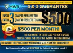 What would an extra $500 per month do for you? With the MWR Life, you could be paid up to 11 ways- daily pay!!  http://www.LetsEarnDaily.com  #cashtoday #lifechanging #mwr #dailyincome #money  #mwrlife #mwrlifestyle   #workfromhome #homebasedbusiness #taxadvantages #mywhyisreal #moneywealthriches #recruiterlife #retired #myjob #recruiting #grindhard #currentsituation #opportunity #dreams #millionaires #nowhiring #realestate #personaldevelopment #planb #beastmoderich