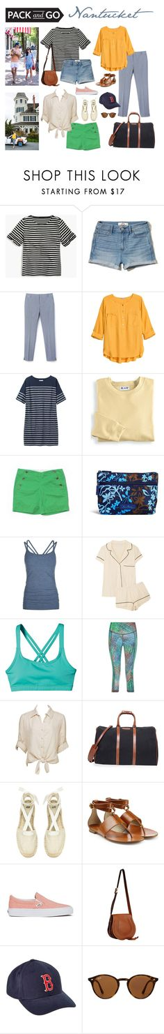 """labor day weekend"" by redressingbloggers ❤ liked on Polyvore featuring J.Crew, Hollister Co., H&M, Toast, Blair, Vera Bradley, Sweaty Betty, Eberjey, Patagonia and Charlotte Russe"