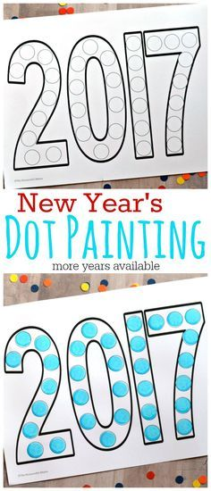 Dot Painting New Year& Activity for Kids is part of Kids Crafts Paint Activities This dot painting activity is a fun way to involve kids in the New Year festivities - New Year's Eve Activities, Painting Activities, Classroom Activities, Party Activities, Winter Activities, Preschool Class, Preschool Themes, Preschool Lessons, Preschool Winter