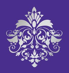 DESIGNER DAMASK STENCIL for wall curtains cakes by Lightsforever