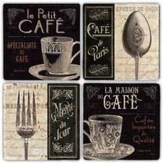 Bardak Altlıkları - Bardak Altlığı - Cafe De Paris