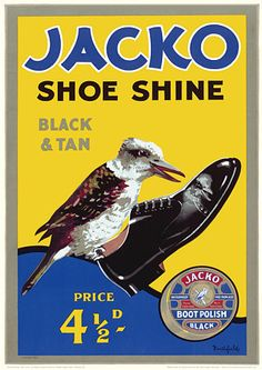 Jacko Shoeshine Polish [Australia] by James Northfield. c.1930s.