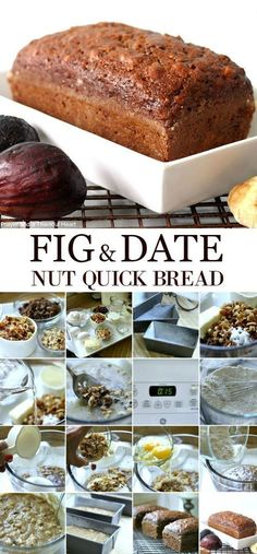 Brimming with fruit and nuts, Fig & Date Nut Bread packs a lot of nutrition and flavor into every bite. Great for breakfast or afternoon snack. Date Nut Bread, Banana Nut Bread, Banana Walnut Bread Healthy, Biscuits Graham, Muffins, Fig Cake, Dessert Bread, Quick Bread, Sweet Bread