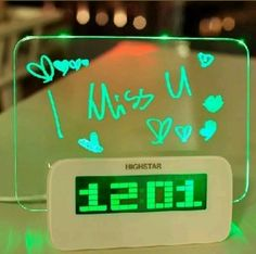 Digital Alarm Clock with Led Message Board  | Home & Garden, Home Décor, Clocks | eBay!