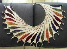 Beautiful wingspan shawl