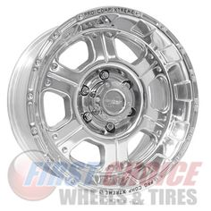 Pro Comp Whl 10897882 Xtreme Alloys Series 1089 Polished Wheels - Aluminum, As Shown Pro Comp, Exo, Rims For Cars, Lock Style, Alloy Wheel, 1 Piece, Tired, Aftermarket Wheels, Pattern