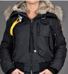 Parajumpers Gobi Bomber Jacket Womens Black Clearance UK