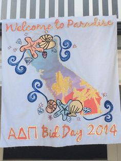 Welcome to Paradise | Bid Day banner