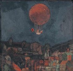 Paul Klee: The balloon,1926. (gotta say this one puzzels me - Klee was such a surrealist. This looks like a fanart illustration)