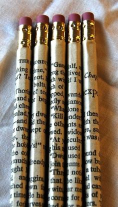Wrap Pencils With Your Favorite Book's Pages