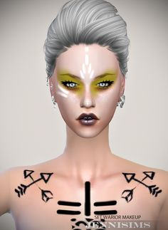 Sims 4 CC's - The Best: Makeup EyeShadow Warior (15 Swatches ) Male /Femal...