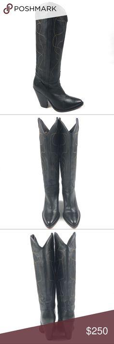 36cb5c46c87643 SARTORE cowboy boots 40 9.5 black embroidery tall SARTORE women s western  cowboy tall boots. Black