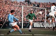 4th April 1969 Maine Road Manchester Manchester City v Leicester City Manchester City's Glynn...