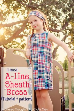Make a simple A-line dress with this free girl's pdf pattern and tutorial.