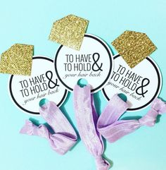 Hey, I found this really awesome Etsy listing at https://www.etsy.com/listing/250866699/single-set-1-card-hair-ties-bachelorette