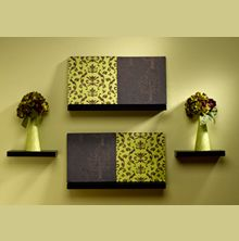 Diy Brown Green Wall Art Decor Home Inexpensive