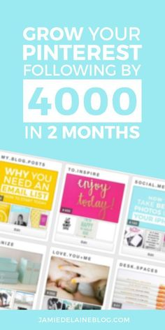 How to Grow Your Pinterest Following by 4000 in Two Months - my exact strategies explained! Read and REPIN for future reference. http://jamiedelaineblog.com/post/26909/how-to-gain-more-pinterest-followers/