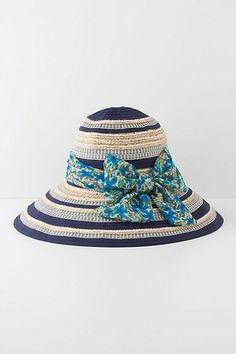 Lobelia-Edged Floppy Hat #anthropologie