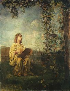 """The Muse of Painting,"" John La Farge, 1870, oil on canvas, 49 1/2 x 38 1/4"", Metropolitan Museum of Art."