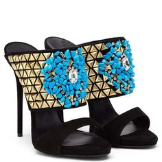 Slip On Pumps, Women's Pumps, Peep Toe Shoes, Pump Shoes, Women's Shoes, Giuseppe Zanotti Heels, Zanotti Shoes, Rhinestone Shoes, Jeweled Sandals