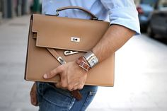 Hermes Kelly Depeche briefcase, bracelet and bangle Bracelet Hermès, Hermes Bracelet, Kelly Bag, Hermes Kelly, Male Fashion Trends, Mens Fashion, Fashion Bags, Fashion Accessories, Dandy