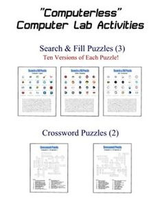 Computer Worksheets Printables | Lesson Plans : Printable ...
