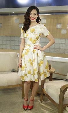 Emmy Rossum Today Show April 12 2013 Modest Dresses, Modest Outfits, Skirt Outfits, Modest Fashion, Dress Skirt, Dress Up, Apostolic Fashion, Modest Clothing, Emmy Rossum