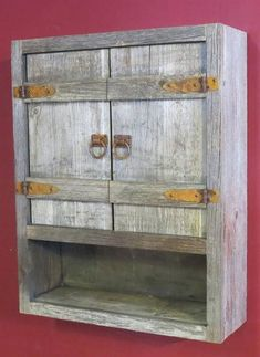 Weathered Gray Toilet Cabinet — Barn Wood Furniture - Rustic Barnwood and Log Furniture By Vienna Woodworks Primitive Furniture, Pallet Furniture, Furniture Projects, Rustic Furniture, Furniture Decor, Modern Furniture, Antique Furniture, Primitive Cabinets, Furniture Design