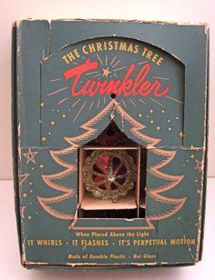 Vintage Christmas Spinner Birdcage Twinklers Plastic Rotating Ornaments OB | eBay