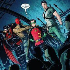 .... Robin Comics, Batman Robin, Dc Comics, Marvel Memes, Marvel Dc, Tim Drake Red Robin, Bat Boys, Batman Family, Comic Panels