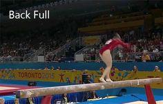 Ellie Black - back full on beam