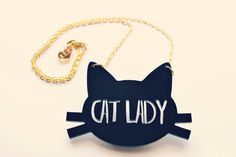 I just died!!! Cat Jewelry // Cat Lady Necklace