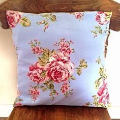 Handmade Shabby Chic Cushion - Blue and Pink Florals! Shabby Chic Cushions, Handmade Cushions, Shabby Chic Hearts, Heart Cushion, Soft Furnishings, Home Accessories, Florals, Personalized Gifts, Hand Painted