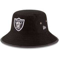 6dde80730 Men s Oakland Raiders New Era Black 2017 Training Camp Official Bucket Hat