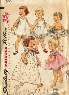 Simplicity 1563 | Simplicity 1563 - Vintage Sewing Patterns