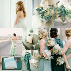 Sea Glass Wedding Colors | Sea Glass Mint and Teal