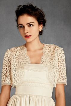 Wedding bolero from BHLDN (a new wedding line from Anthropologie)$180 <3PenyaDS