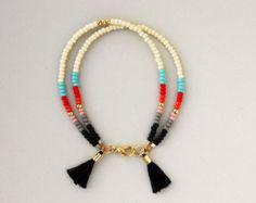 Friendship Bracelet - Southwestern Bracelet - Layering Bracelet - Tassel Bracelet
