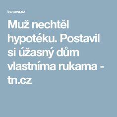 Muž nechtěl hypotéku. Postavil si úžasný dům vlastníma rukama - tn.cz