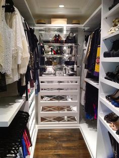 Suzie: HGTV - Kendall & Kyle Jenner - Glam walk-in closet with white built-ins and mirrored ...