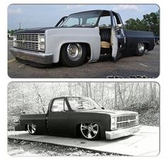 (3) Strictly Slammed Square Bodies (chevrolet 1973- 1991)