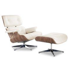Eames Lounge Chair Replica, Cream | Manhattan Home Design - $1243