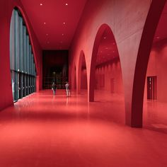 Dezeen promotion: lighting brand Zumtobel has worked with Marte.Marte Architects to develop a lighting system for the Messe Dornbirn exhibition centre Red Architecture, Contemporary Architecture, Amazing Architecture, Decor Interior Design, Interior Design Living Room, Design Interiors, Room Interior, Lighting System, Lighting Design