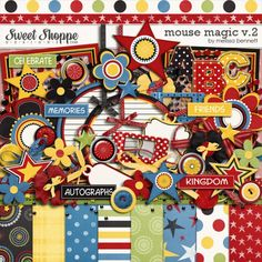 The Essentials - No vacation scrapbook would be complete without them! - MouseScrappers.com