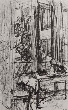 Edouard Vuillard interior - get students to consider how the interior of the room can contextualise and weight the figure - perhaps get them to come in early and draw the room before seating the model