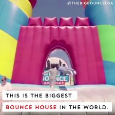 Big Bounce America is the biggest bounce house in the world, it's 10,000 square feet of bouncy fun.